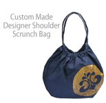 Custom Made Designer Shoulder Scrunch Bag
