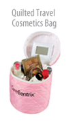 Quilted Travel Cosmetics Bag