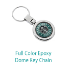 Full Color Epoxy Dome Key Chain