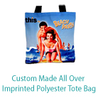 Custom Made All Over Imprinted Polyester Tote Bag