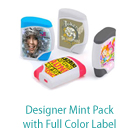 Designer Mint Pack with Full Color Label