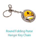Round Folding Purse Hanger Key Chain