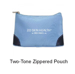 Custom Imprinted Two-Tone Zippered Pouch