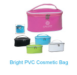 Custom logo Bright PVC Cosmetic Bag