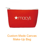 Custom Made Canvas Make-up Bag