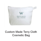 Promotional Custom Made Terry Cloth Cosmetic Bag