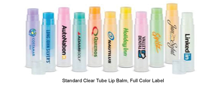 Standard Clear Tube Lip Balm, Full Color Label