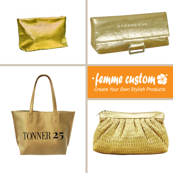 Metallic gold items promotion