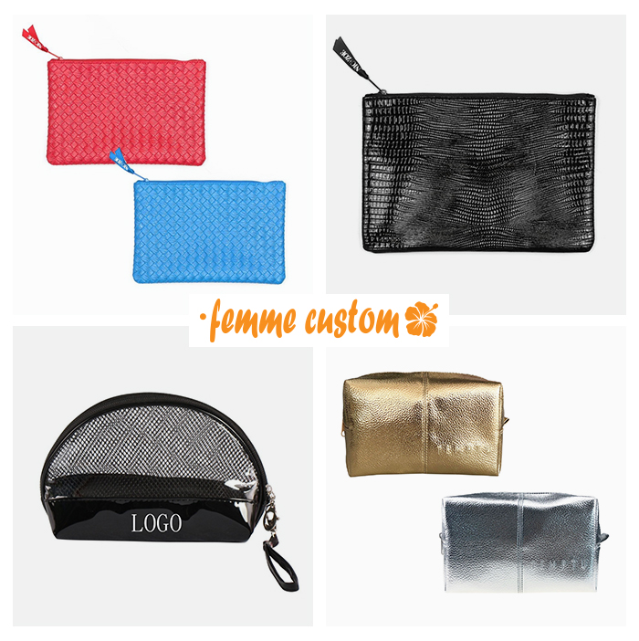 Promotional cosmetic bags for private label or resale