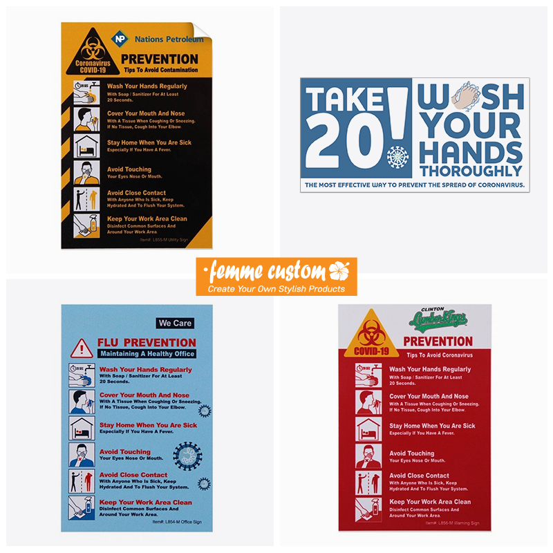 wholesale bulk covid-19 safety signs and decals