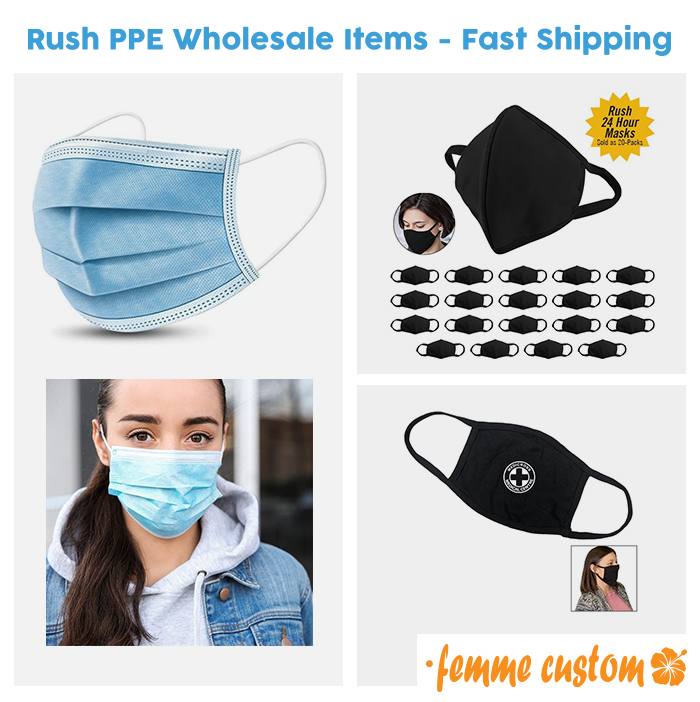 wholesale bulk protective face masks and coverings rush