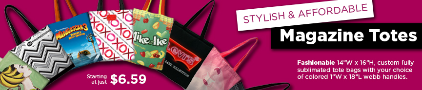 Magazine Totes and Colorful Bags