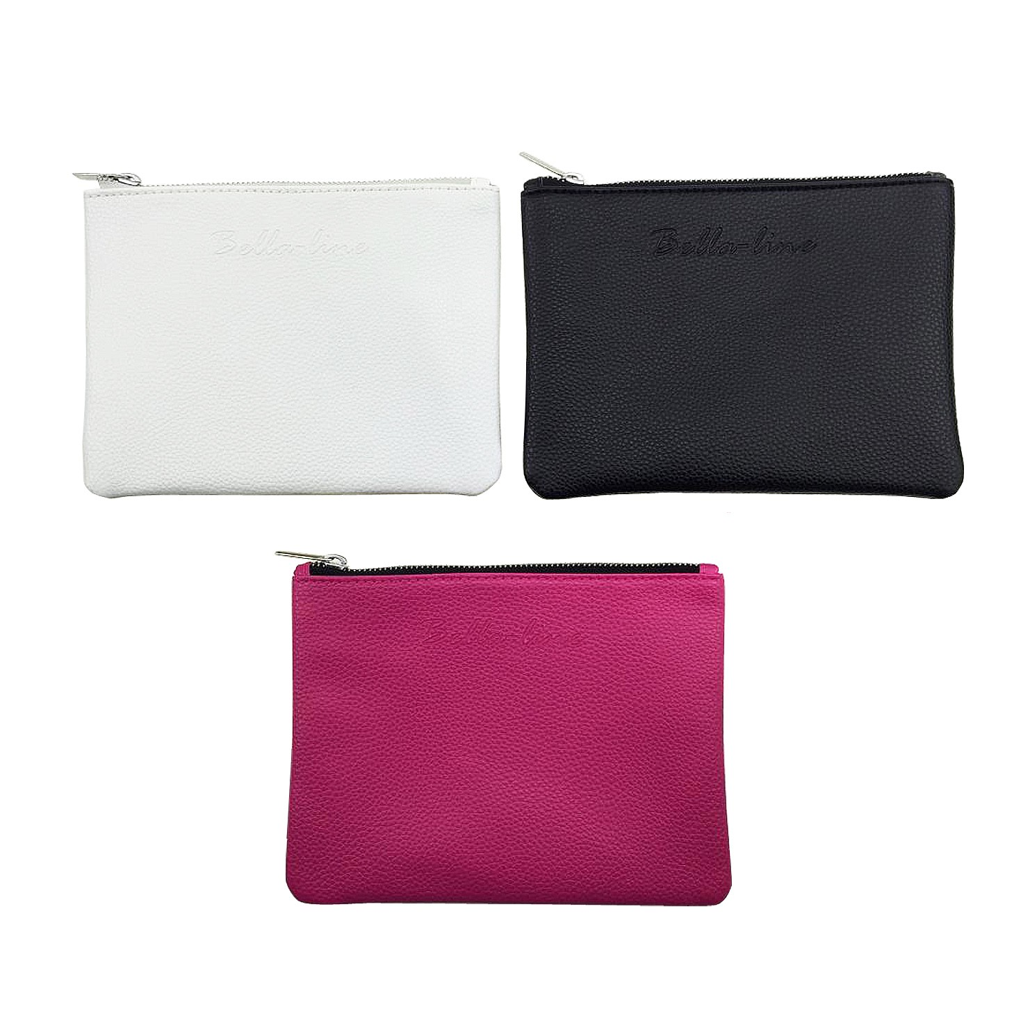 Smooth Leatherette Flat Zippered Pouch Promotional