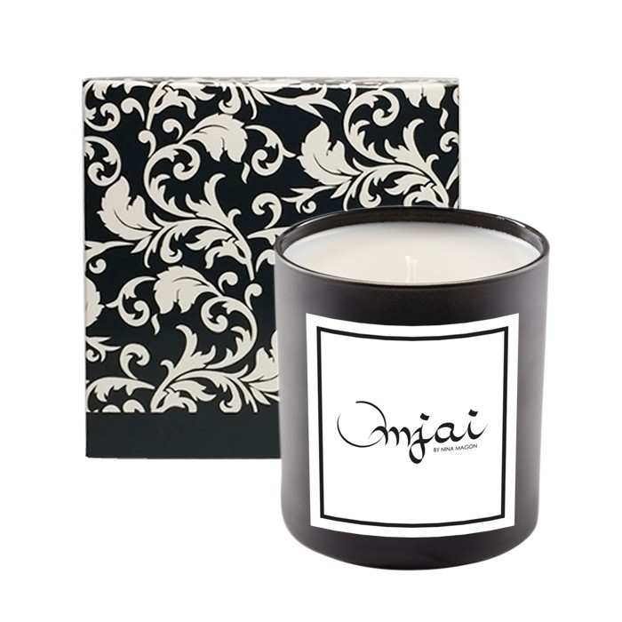 Premium High End 11Oz Candle with Custom Designed Black Floral Box - PHE