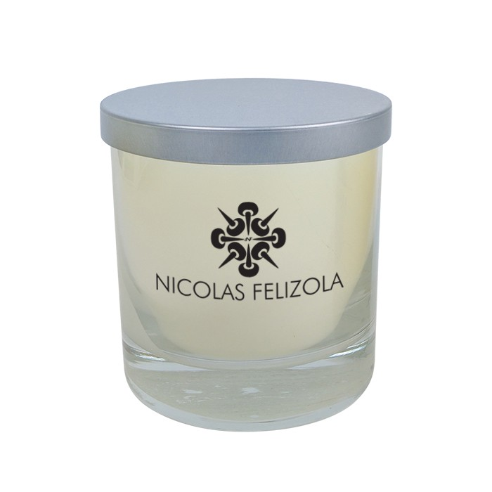 Premium High End 11 Oz Candle Wooden Wick and Silver Lid Gift - PHE