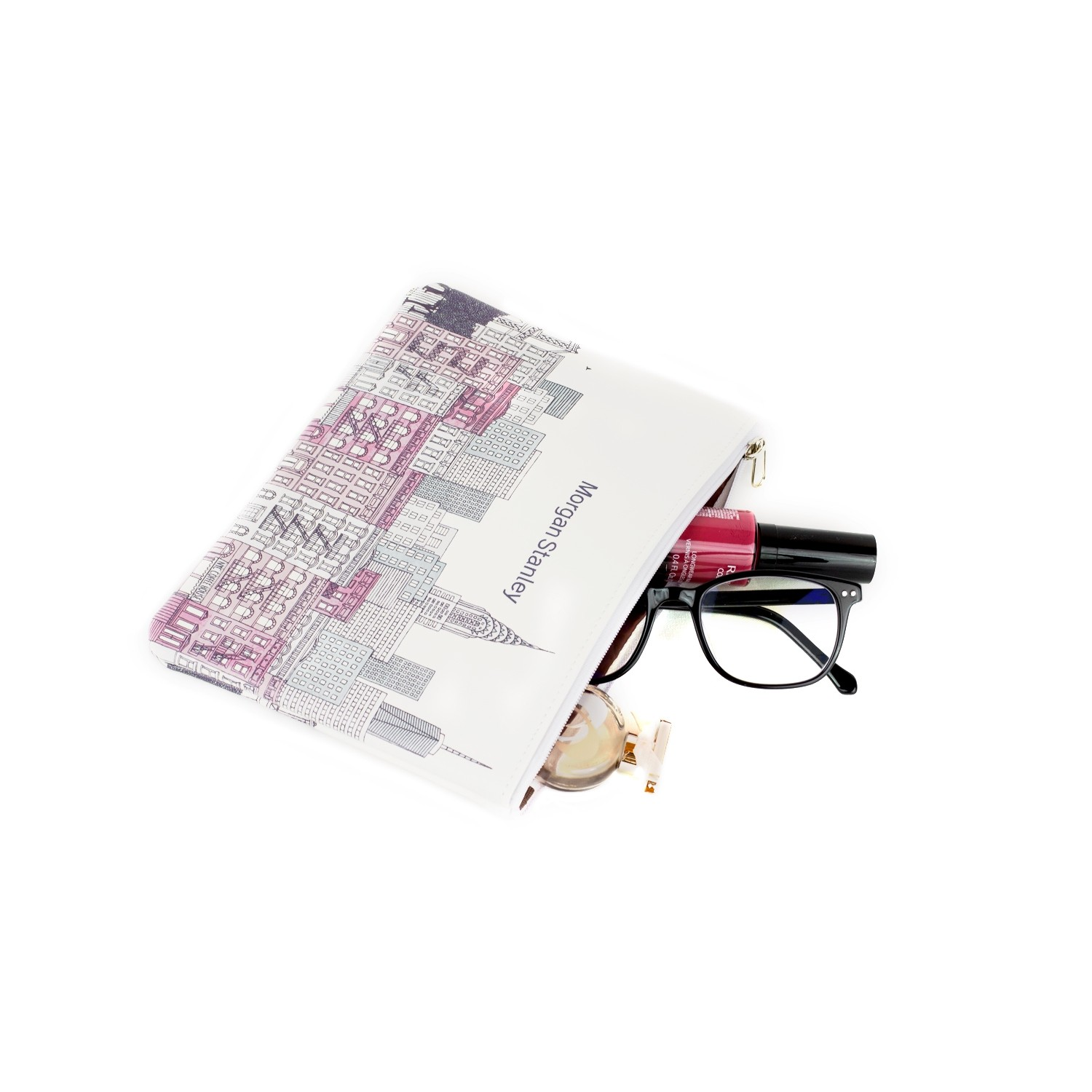 Full Color Sublimated Leatherette Pouch, Promotional Cosmetic Bag