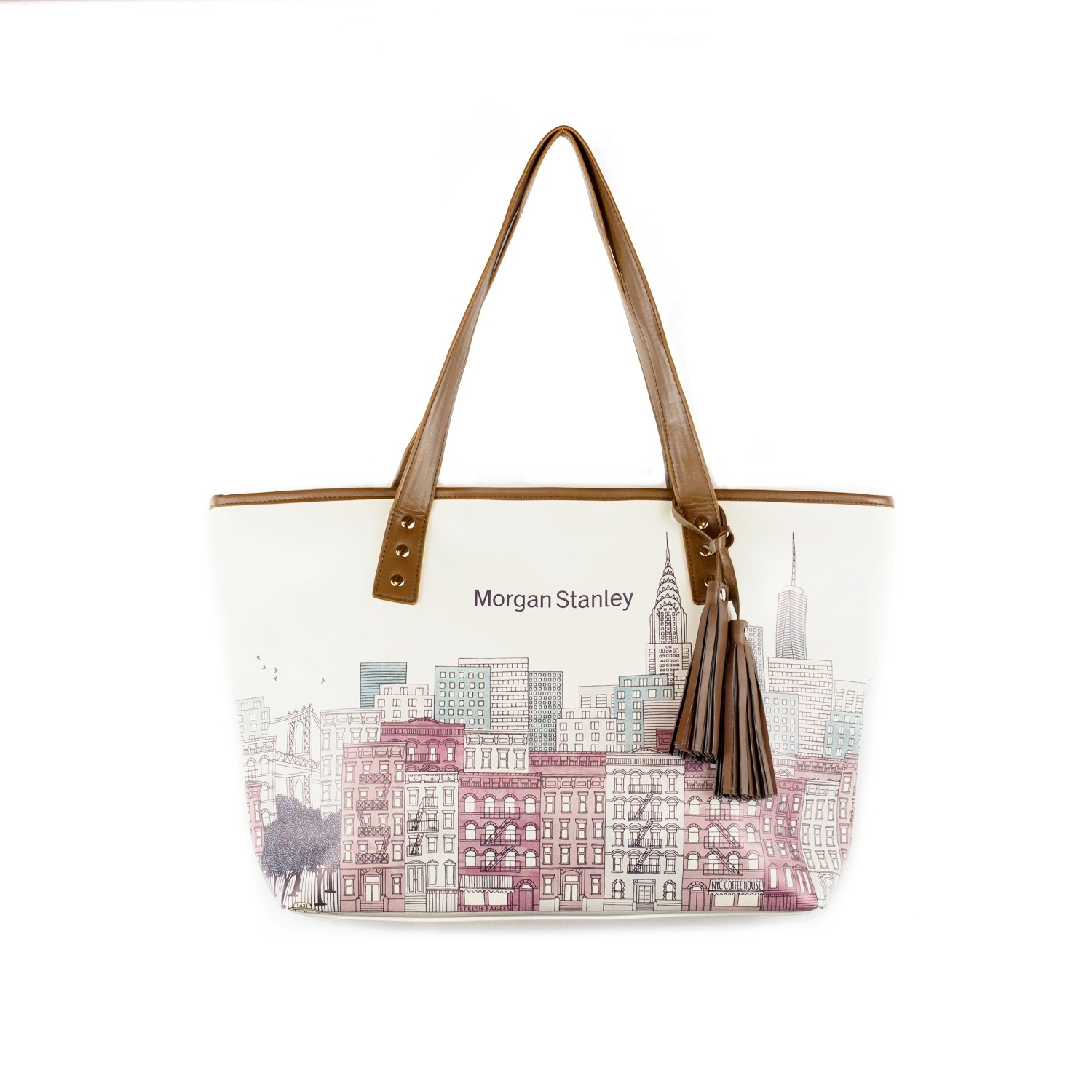 Full Color Sublimated Leatherette Tassel Tote Bag