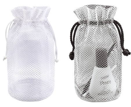 10 Inch Tall Black or White Mesh Bag