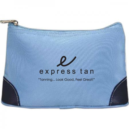 Two-Tone Zippered Pouch