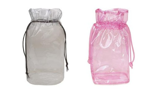 12 Inch Tall Clear or Translucent Drawstring Pouch