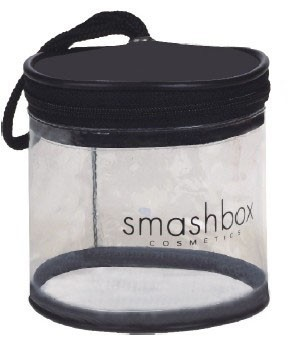 Round Barrel Bag in Clear Vinyl and Colored Top