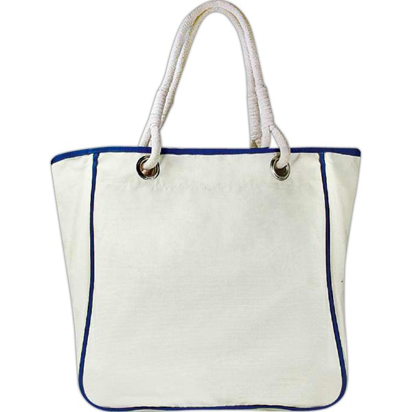 All Natural Cotton Canvas Bag with Rope Handles