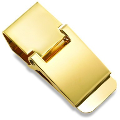 Classic Polished Gold Money Clip