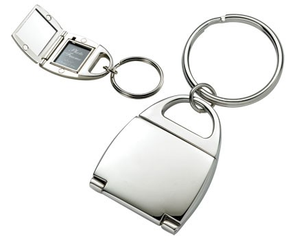Purse Shaped Photo Key Chain