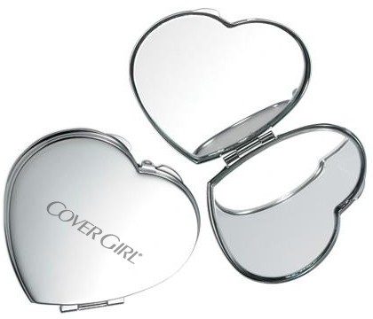 Heart Shaped Mirror Compact