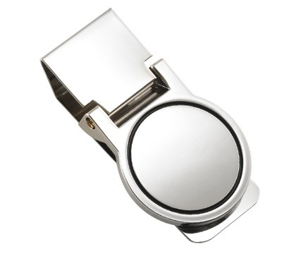 Polished Silver Round Money Clip