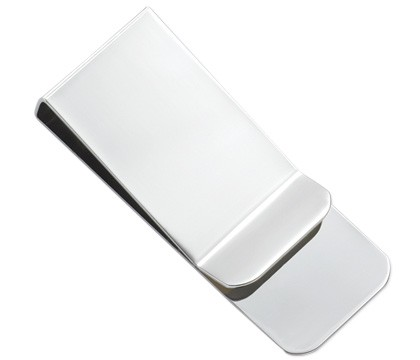 Polished Silver Money Clip