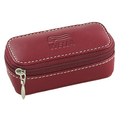 Leatherette Lipstick Case with Mirror