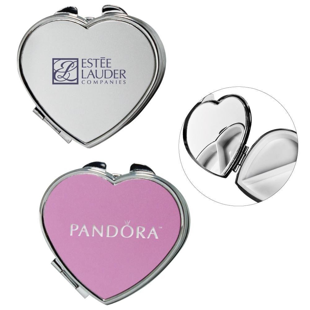 Heart Mirror Compact and Pill Box