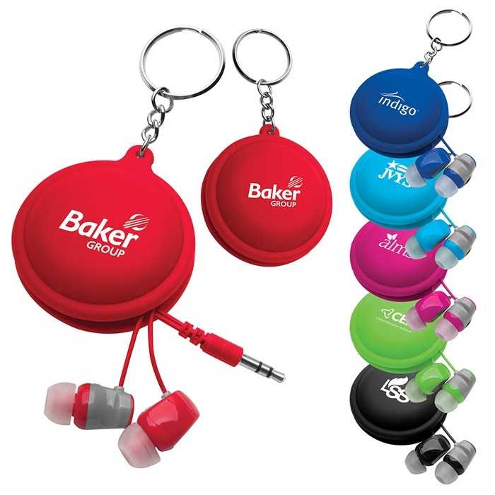 Key Chain Earbuds Color Bright Case