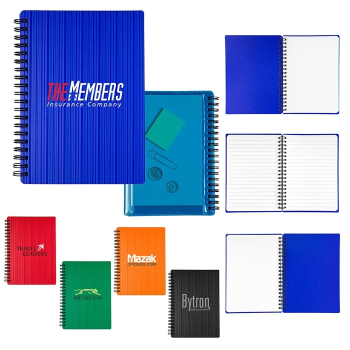 Bright Colorful Textured Cover Sprial Notebook 5x7