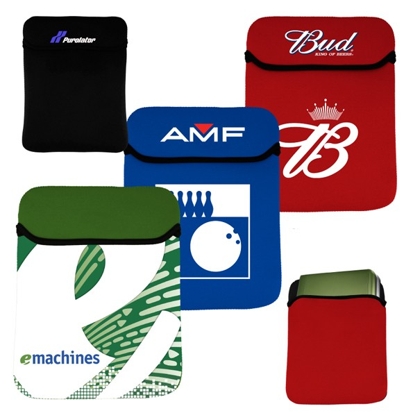 Reversible Neoprene Laptop Sleeve with Hoodie Top, Vertical