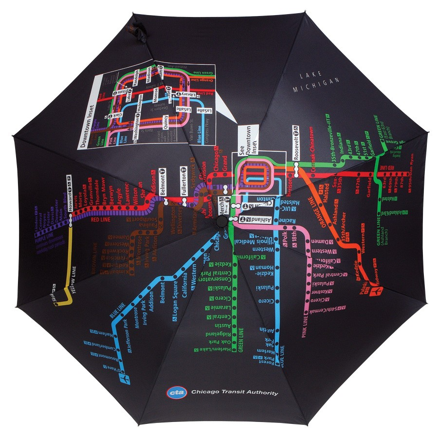 Chicago CTA Map Umbrella