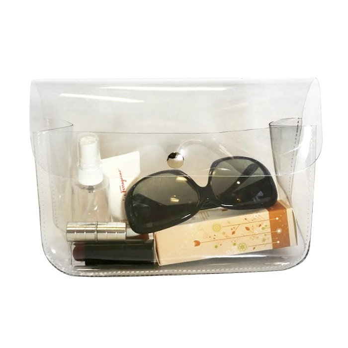 Soft and Thick Clear Vinyl Cosmetics Case