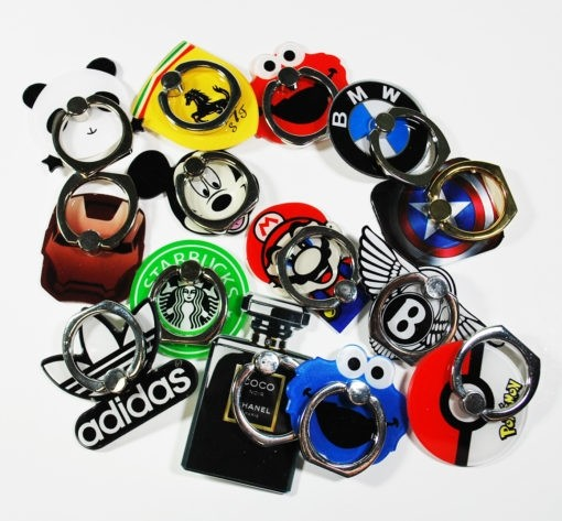 Custom Logo Shaped Strong Metal Phone Grip Ring Accessory for Smartphone