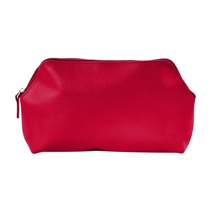 Lisette Leatherette Makeup Travel Gusseted Bag