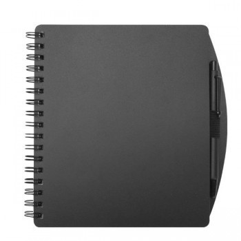 Black Ballpoint Pen with 5x6 Spiral Notebook Set