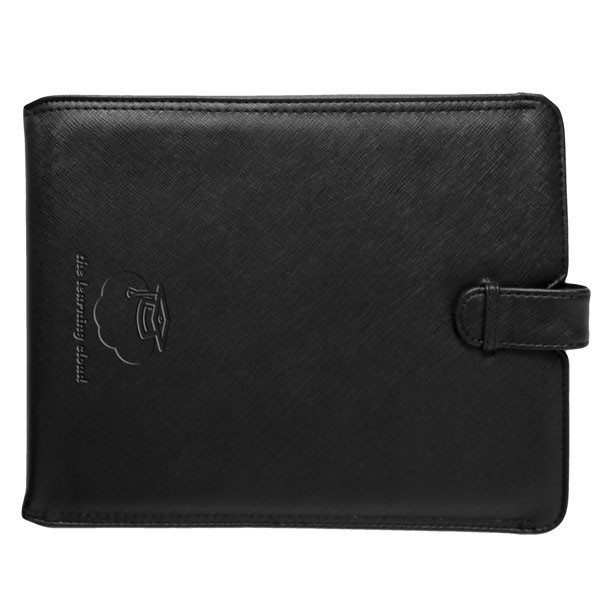 Leatherette Tablet and iPad Slide-Out Case with Ribbon