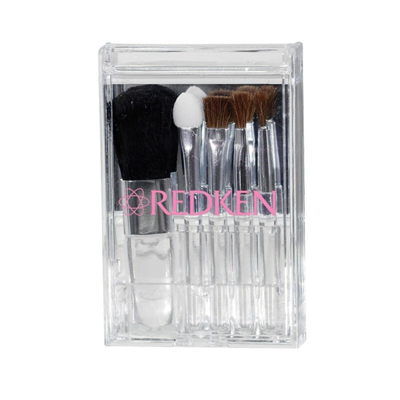 Brush and Mirror Case with Flip Lid