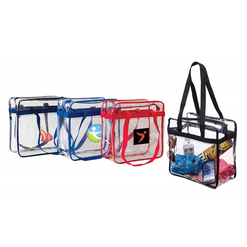 12x12 NFL Approved Heavy Duty Clear Zippered Tote Bag