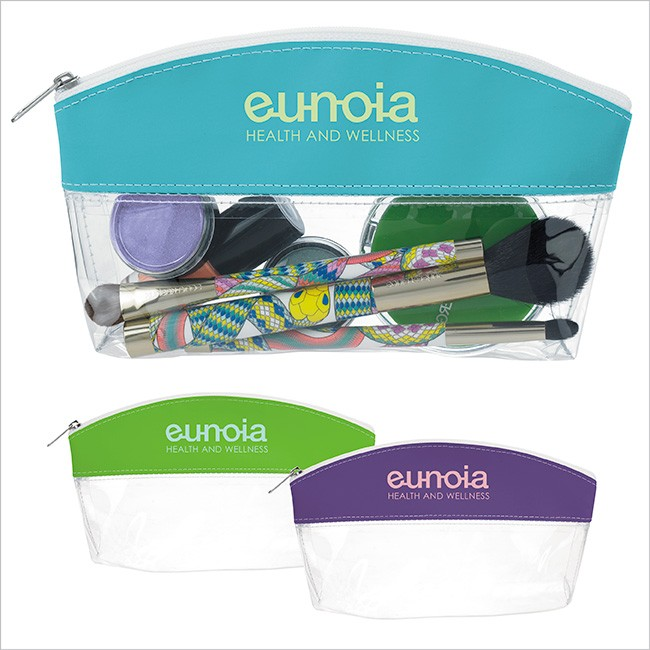 Clear See-Through Cosmetic Zippered Case Bag