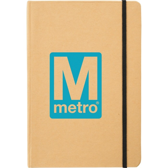 Large Recycled Cardboard Eco Notebook Size 5.5x8.5