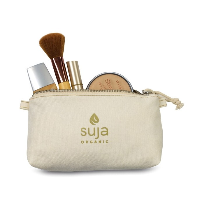 All Natural Eco Friendly Bamboo Zippered Travel Pouch