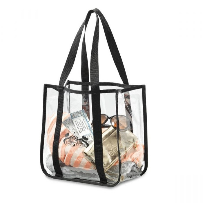 Clear Vinyl Sturdy Double Strap Game Day Tote Bag
