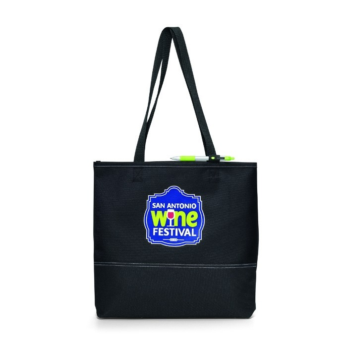 Two-Tone Polycanvas Expo and Convention Tote Bag