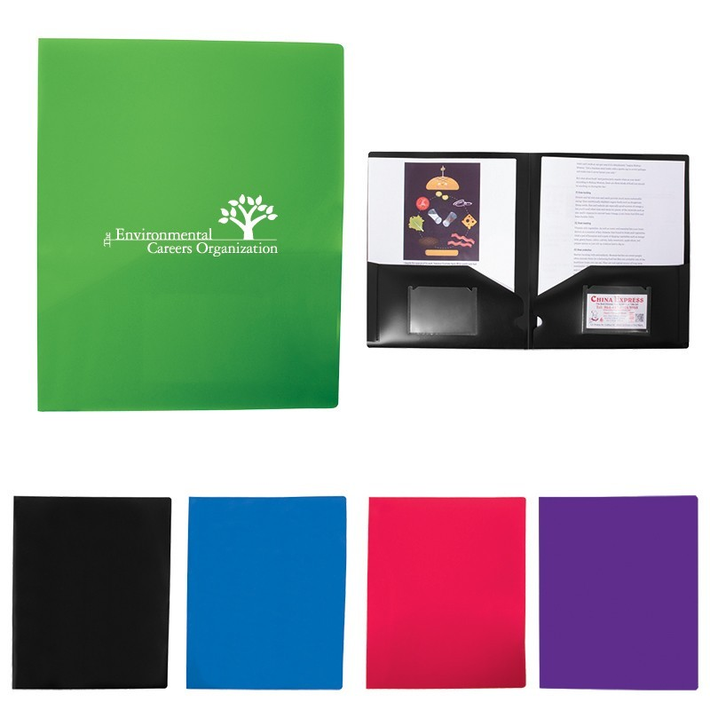 Colorful Polypro Presentation Folder